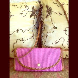 Eric Javits crossbody fuchsia (bright pink) bag